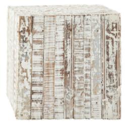 Bout de canapé patras blanc en bois