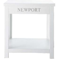 Bout de canapé newport blanc en bois