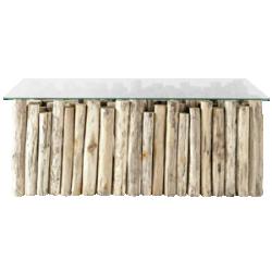 Table basse en rondin dune