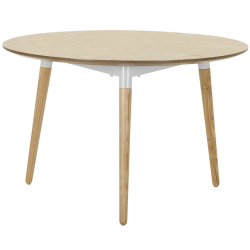 Table basse edelweiss frêne