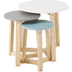 Table basse trio en bois