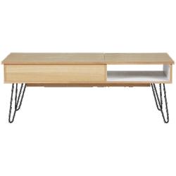 Table basse twist métal en bois