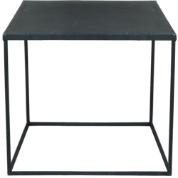 Table basse edison noir métal