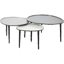 Table basse galet métal