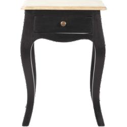 Table de chevet versailles noir