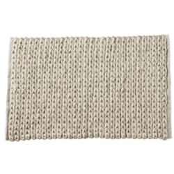 Tapis en maille de laine et coton beige bloomingville