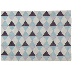 Tapis nordic bleu