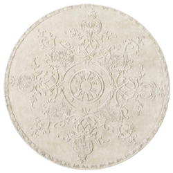 Tapis rond sculpture