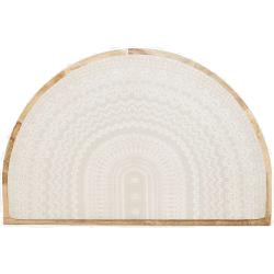 Tête de lit forme demi-cercle motif médaillon