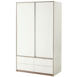 Trysil - armoire portes couliss/4tiroirs