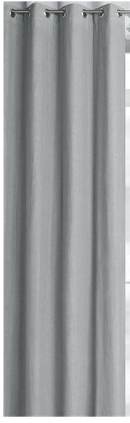 Rideau doublé à illets pur lin colin, 4 tailles