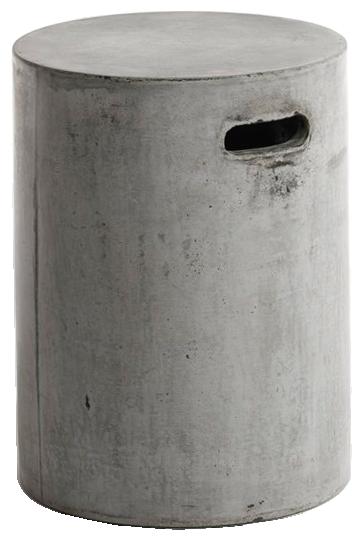 Bout de canapé tatum, ciment