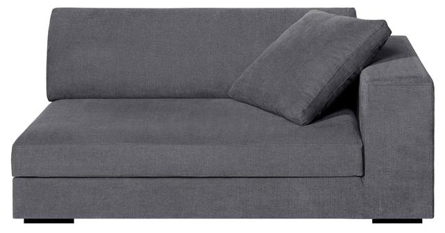 Demi-canapé fixe horus, toile coton/lin