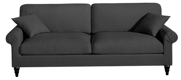 Canapé fixe juliet, toile coton/lin