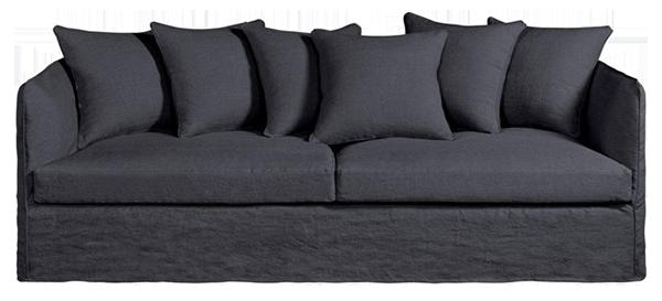 Canapé convertible neo chiquito, toile lin froissé