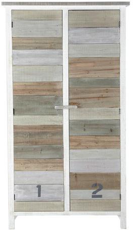 Armoire noirmoutier blanc noir en bois