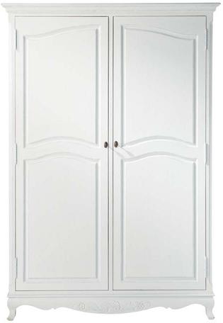 Armoire joséphine blanc en bois