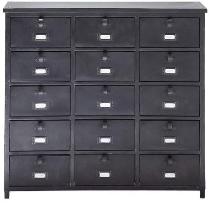 Cabinet edison noir métal