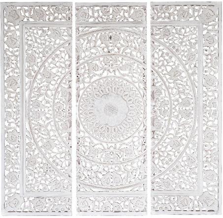 triptyque andaman blanc en bois