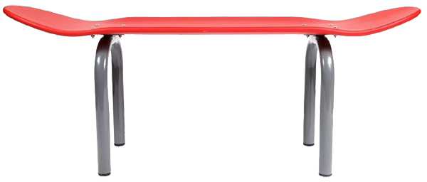 Banc skateboard - rouge