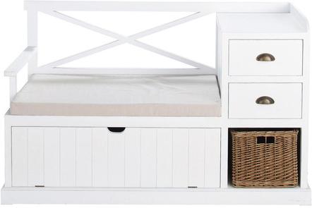 Meuble d'entrée freeport blanc en bois