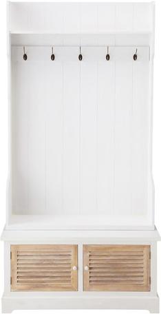Meuble d'entrée ouessant blanc en bois