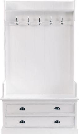 Meuble d'entrée newport blanc en bois
