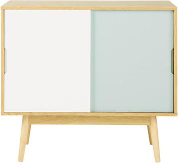 Buffet fjord bleu blanc en bois