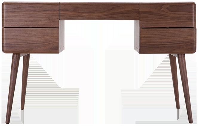 bureau paco noyer mydecolab. Black Bedroom Furniture Sets. Home Design Ideas