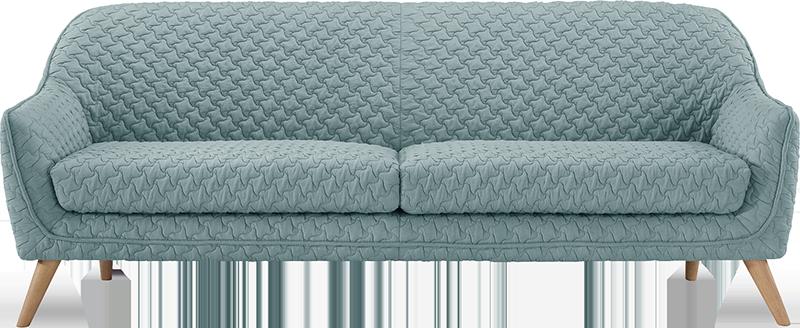 Canapé 3 places en tissu 3d matelassé - skanor