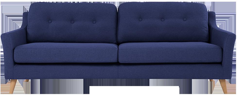 Canapé 3 places rufus bleu