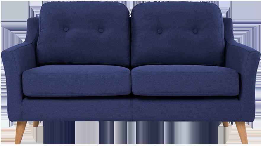 Canapé 2 places rufus bleu