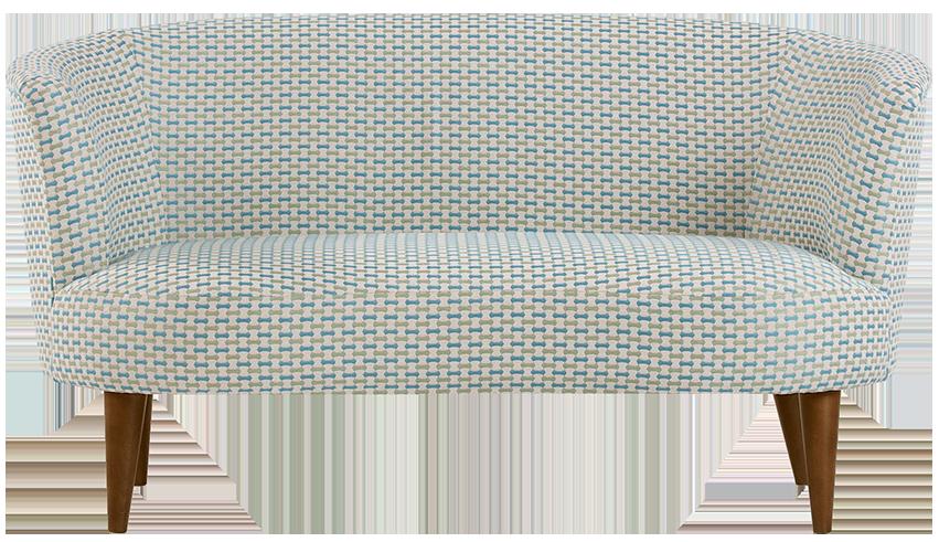 Canapé 2 places lulu tissé