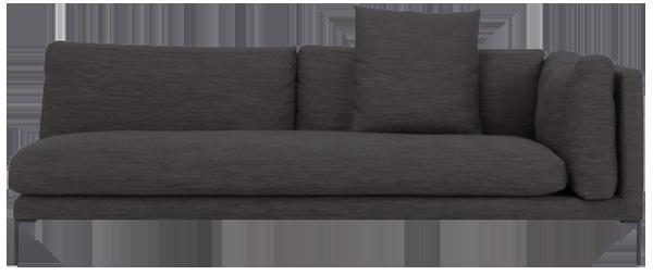 Newman canapé 3 places accoudoir droit en tissu