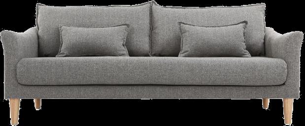 Canapé design 3 places gris kate