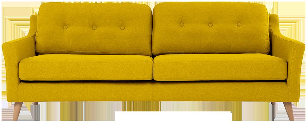 Canapé 3 places rufus jaune