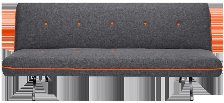 Canapé convertible miki gris | MYDECOLAB