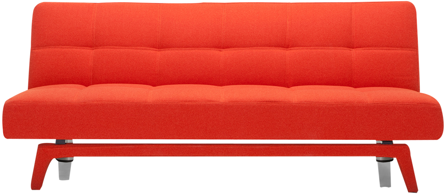 Canap convertible yoko orange mydecolab - Canape convertible orange ...