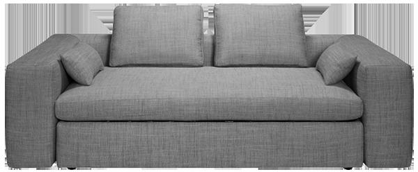 Cyrus canapé 3 places en tissu avec rangement