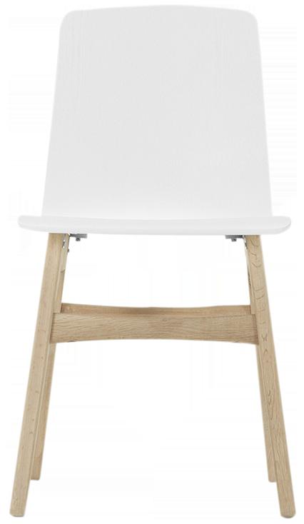 Chêne et blanc 2 x dante chaises
