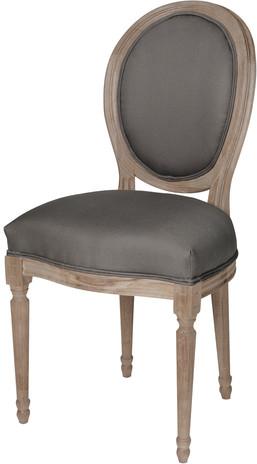 Chaise louis gris chêne