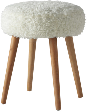 Tabouret pin up blanc