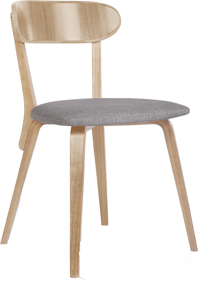 chaises assise tissus pieds bois lot de deux 2 tiry - Chaise Transparente Pied Bois