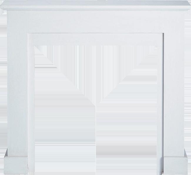 Cheminée décorative blanche