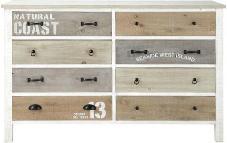 commode noirmoutier blanc noir en bois mydecolab. Black Bedroom Furniture Sets. Home Design Ideas