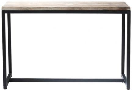 Table long island noir métal