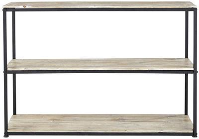 Table long island noir métal 1