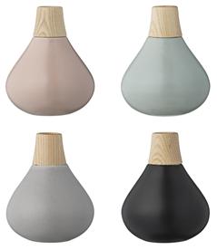 Vase en bois et céramique pastel (par 4) bloomingville