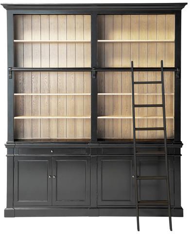 Bibliothèque versailles noir en bois