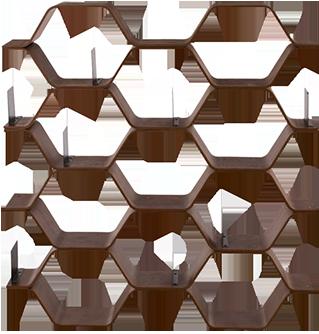 Bibliothèque polygon noyer